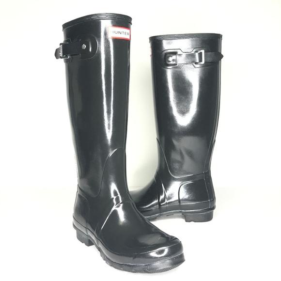 Hunter Shoes - Hunter Black Original Tall Gloss Rain Boots SH0898